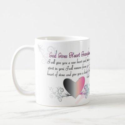 God Gives Heart Transplants Coffee Mug