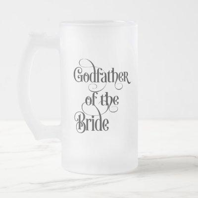 Godfather of the Bride Frosted Glass Beer Mug