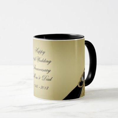 Gold Black 50th Wedding Anniversary Mug