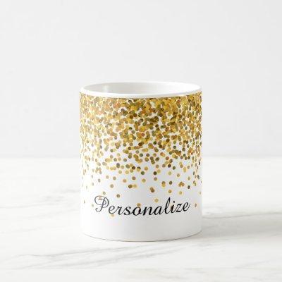 Gold Confetti Coffee Mug