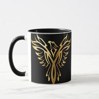 Gold Phoenix Coffee Mug