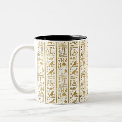 Gold & White Egyptian Egypt Glam Modern Chic Two-Tone Coffee Mug