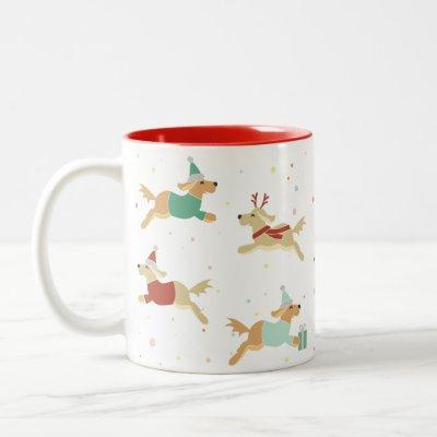 Golden Christmas Mug