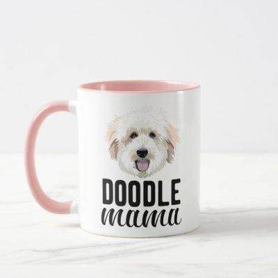 Golden doodle mom mug personalized with your dog