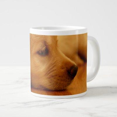 Golden Retriever Puppy Antoine Melancholy I Large Coffee Mug