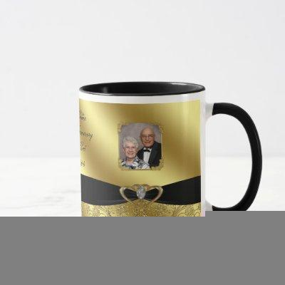 Golden Wedding Anniversary Photo Coffee Mug