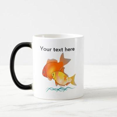 Goldfish Friends Print Design Magic Mug