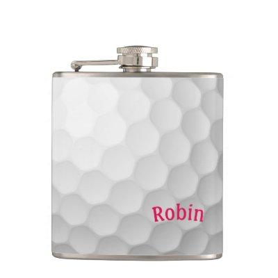 Golf Themed Flask Personalized for Her