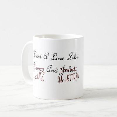 Gomez and Morticia Love Mug