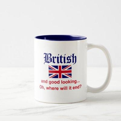 Good Looking British Two-Tone Coffee Mug