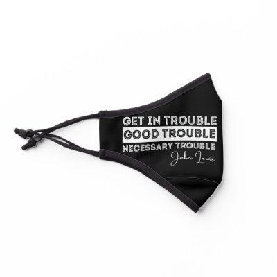 good trouble, john lewis, vote, black lives matter premium face mask