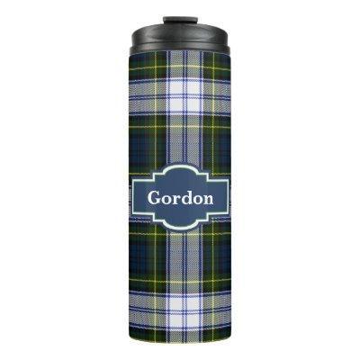 Gordon Dress Plaid Custom Thermal Tumbler