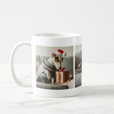 Gorgeous Awesome Christmas Photo Collage Mug