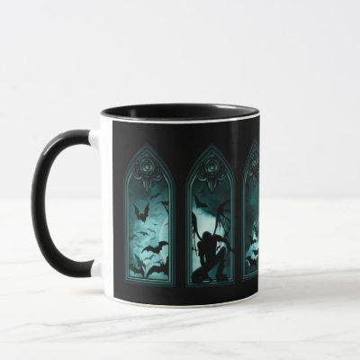 Gothic Bat Windows Combo Mug