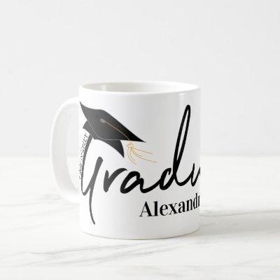 Graduate Typography & Your Name Class of Mug