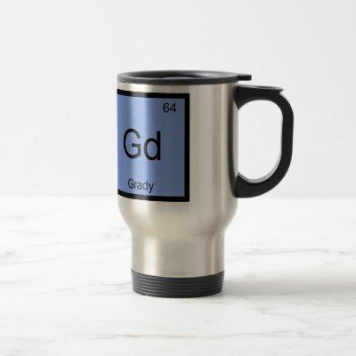 Grady  Name Chemistry Element Periodic Table Travel Mug