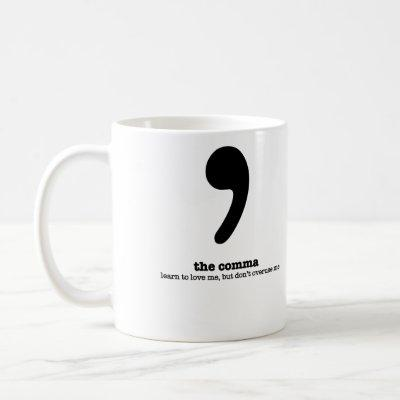 Grammar Mug Comma Humor Grammatical Gift