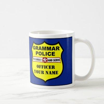 Grammar Police Customizable Mug