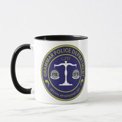 Grammar Police Special Apostrophe Unit Mug