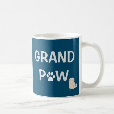 Grand Paw Grandfather Dog Grandpa Father's Day Coffee Mug