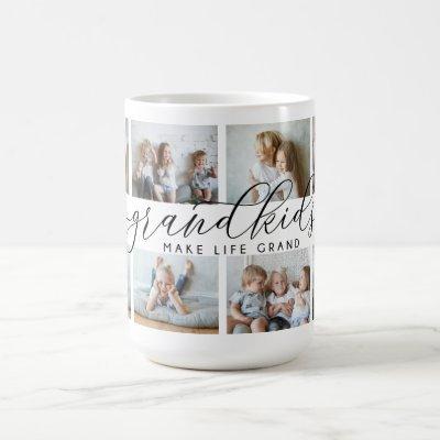 Grandkids Make Life Grand | 8 Photo Collage Coffee Mug
