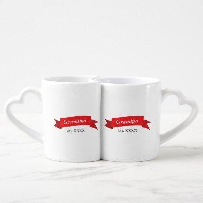 Grandparents Est. XXXX Coffee Mug Set