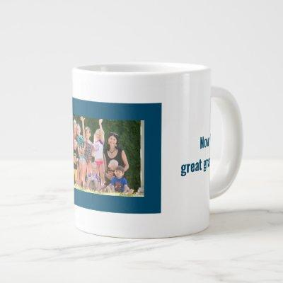 Great Grandpa Family Photo Giant Coffee Mug