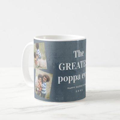 Greatest poppa photo collage Grandparents Day Coff Coffee Mug