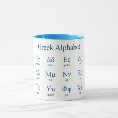Greek Alphabet Mug
