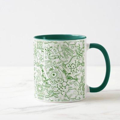 Green Biology Pattern Mug