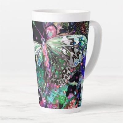 Green Hope Butterfly Latte Mug