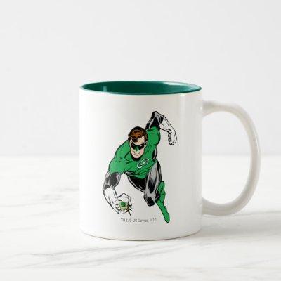 Green Lantern Fly Forward Two-Tone Coffee Mug