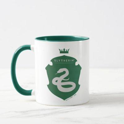Green SLYTHERIN™ Crowned Crest Mug