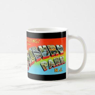 Greetings from Asbury Park NJ Vintage Mug #2