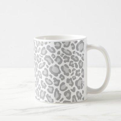 Grey Leopard Print Coffee Mug
