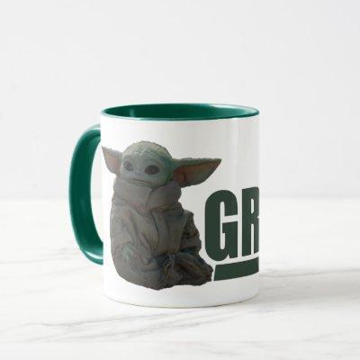 Grogu Name Graphic Mug