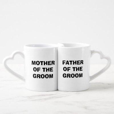 Groom's Mother/Father Nesting Mug Set