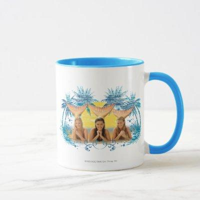 Group Blue Palm Tree Graphic Mug