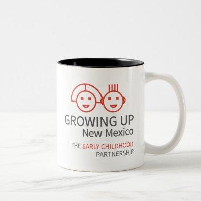 GROWING UP NM White Two-Tone Coffee Mug