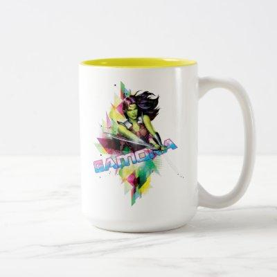 Guardians of the Galaxy | Gamora Neon Graphic Two-Tone Coffee Mug