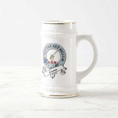 Gunn Clan Badge Beer Stein