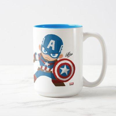 Guri Hiru Captain America Two-Tone Coffee Mug