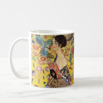 Gustav Klimt Lady With Fan Coffee Mug