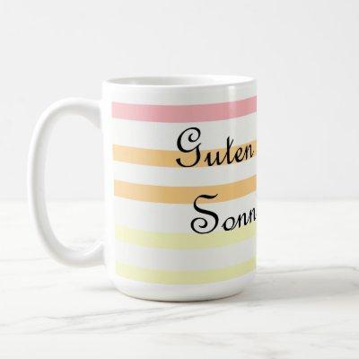 Guten Morgen Sonnenschein - Good Morning, Sunshine Coffee Mug
