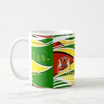 Guyana, Happy 50th Anniversary Coffee Mug