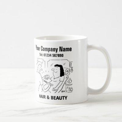 Hair & Beauty Salon Cartoon Mug