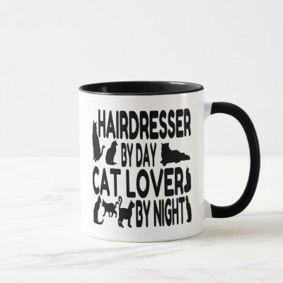 Hairdresser by Day Cat Lover by Night Mug