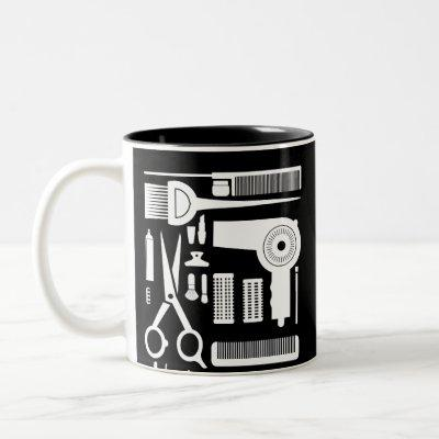 Hairdresser Design for Stylists, Hardressers and Two-Tone Coffee Mug