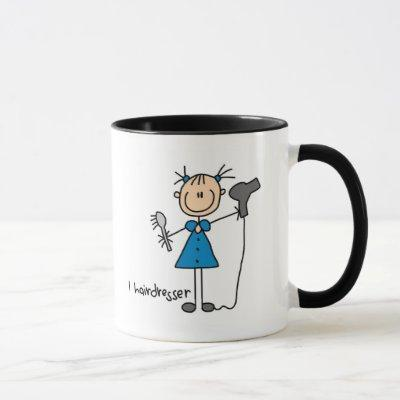 Hairdresser Stick Figure Mug