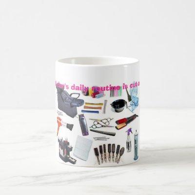 Hairstylists are a cut above coffee mug